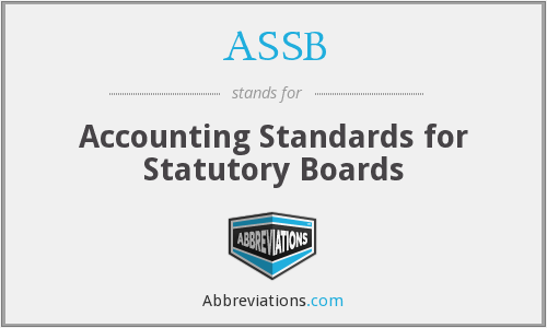 ASSB - Accounting Standards for Statutory Boards