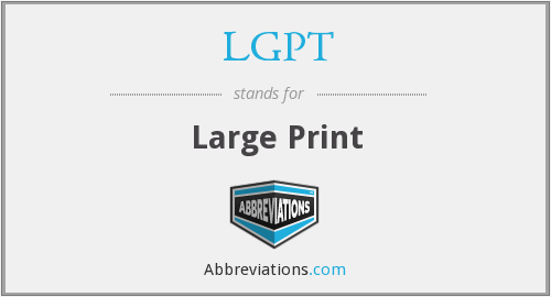 What does LGPT stand for?