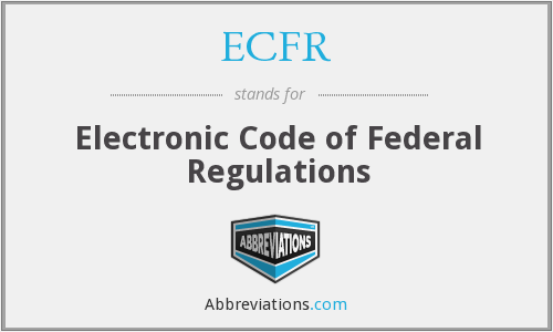 What does ECFR stand for?