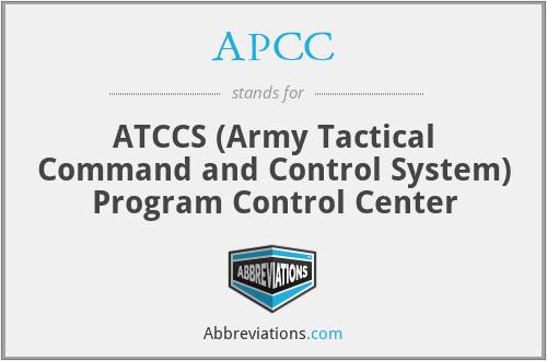 APCC - ATCCS Program Control Center