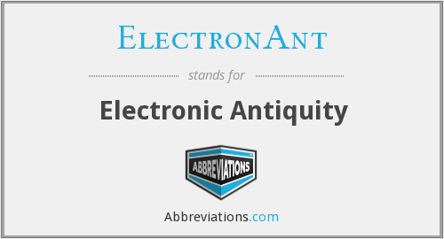 What does ELECTRONANT stand for?