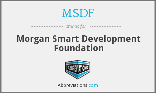 MSDF - Morgan Smart Development Foundation