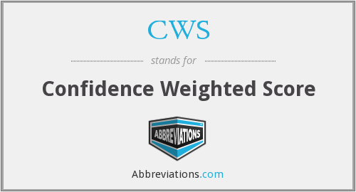 CWS - Confidence Weighted Score