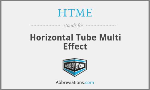 HTME - Horizontal Tube Multi Effect