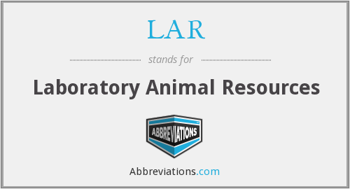 What does LAR stand for?