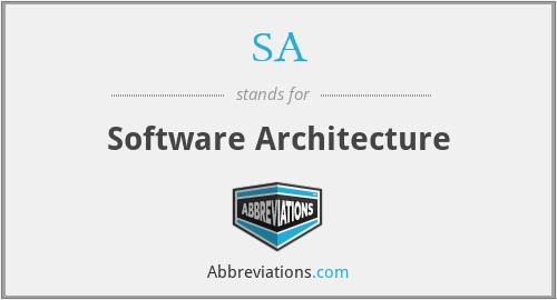 SA - Software Architecture