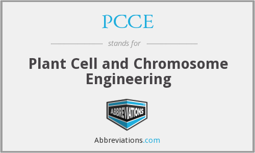 PCCE - Plant Cell and Chromosome Engineering