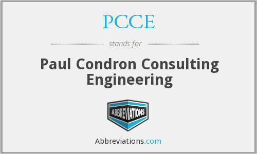 PCCE - Paul Condron Consulting Engineering