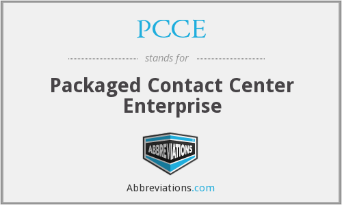 PCCE - Packaged Contact Center Enterprise