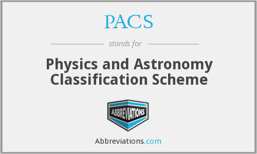 PACS - Physics and Astronomy Classification Scheme
