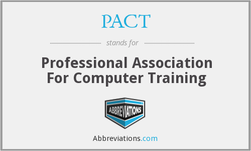 PACT - Professional Association For Computer Training