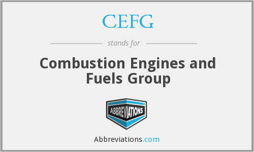 CEFG - Combustion Engines and Fuels Group