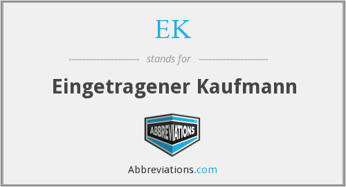 What does EK stand for? — Page #2