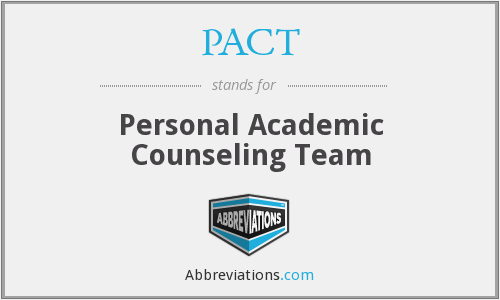 PACT - Personal Academic Counseling Team