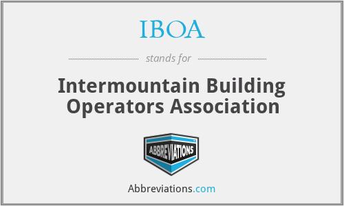 IBOA - Intermountain Building Operators Association