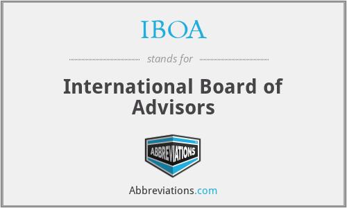IBOA - International Board of Advisors