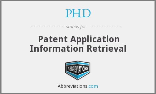 PHD - Patent Application Information Retrieval