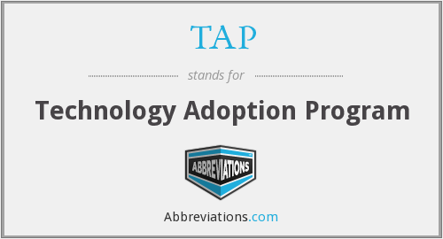 TAP - Technology Adoption Program
