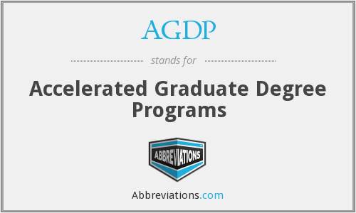 AGDP - Accelerated Graduate Degree Programs