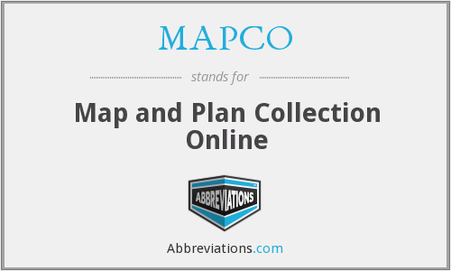 MAPCO - Map and Plan Collection Online