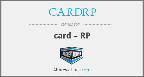 What does CARDRP stand for?