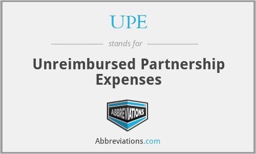 UPE - Unreimbursed Partnership Expenses