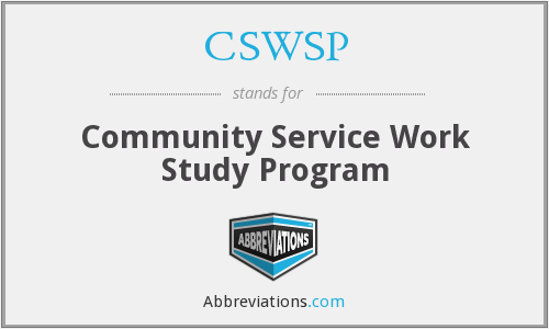 What does CSWSP stand for?