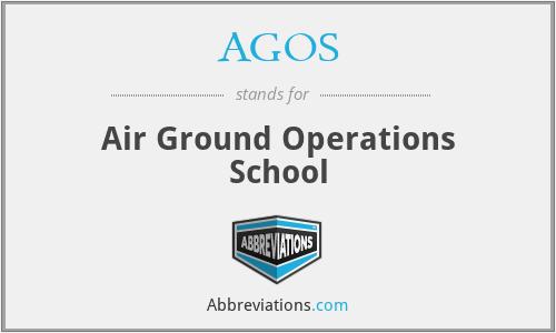 AGOS - Air Ground Operations School