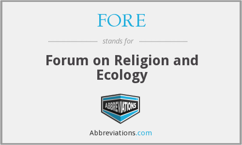 FORE - Forum on Religion and Ecology