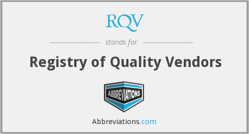 What does RQV stand for?