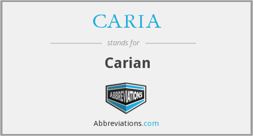 What does CARIA stand for?