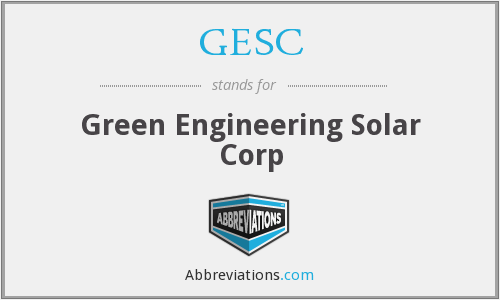 What does GESC stand for?