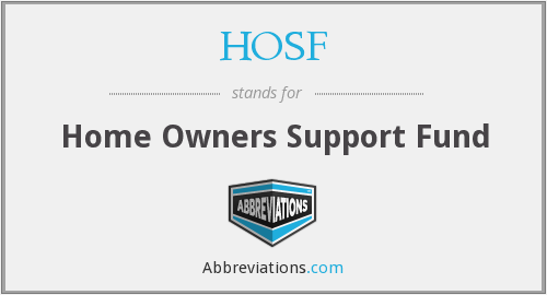 What does HOSF stand for?