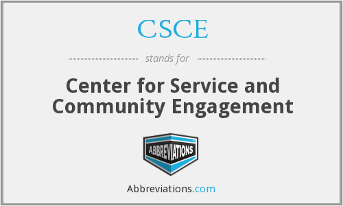 CSCE - Center for Service and Community Engagement