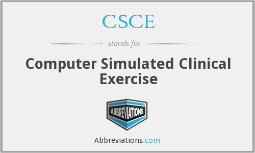 CSCE - Computer Simulated Clinical Exercise