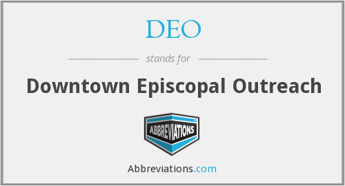 DEO - Downtown Episcopal Outreach