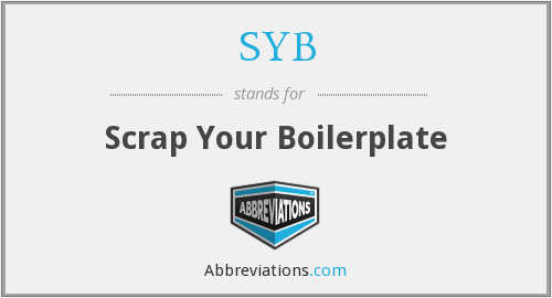 What does SYB stand for?