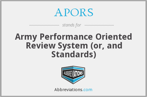 What does APORS stand for?