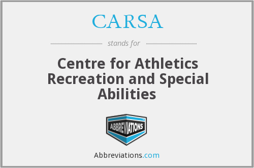 CARSA - Centre for Athletics Recreation and Special Abilities