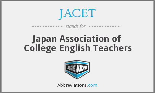 What does JACET stand for?