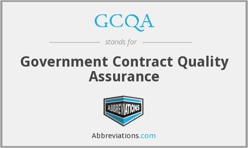 What does GCQA stand for?