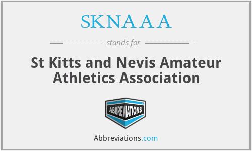 SKNAAA - St Kitts and Nevis Amateur Athletics Association