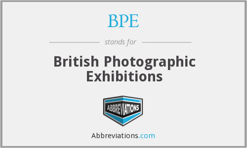 BPE - British Photographic Exhibitions