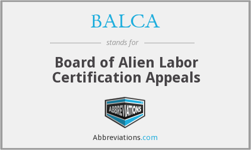 What does BALCA stand for?