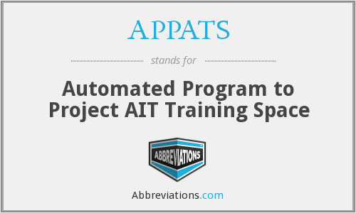 What does APPATS stand for?