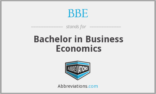 BBE - Bachelor in Business Economics