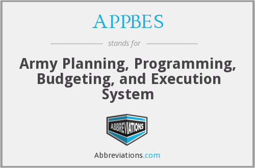 What does APPBES stand for?