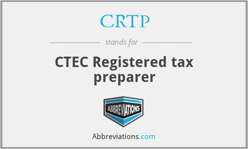 CRTP - CTEC Registered tax preparer