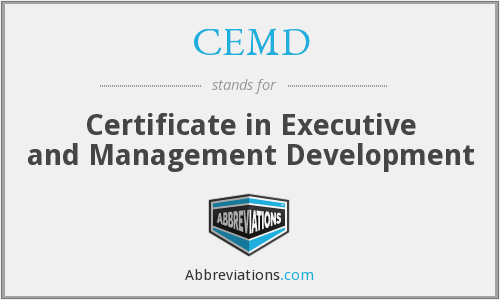 What does CEMD stand for?