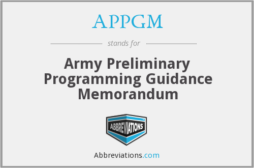What does APPGM stand for?